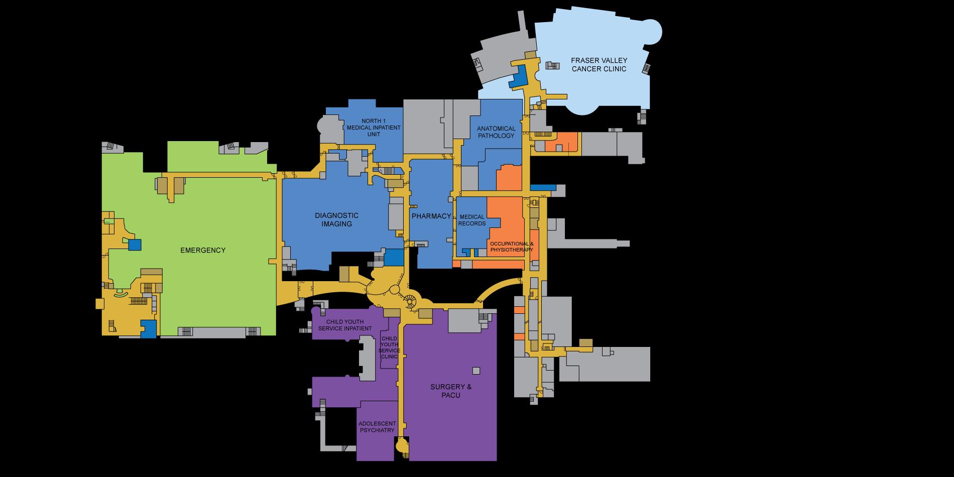 Surrey Memorial Hospital Map Surrey Memorial Hospital Interactive Map